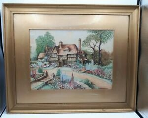 Original Framed Watercolour Dated 1937 by C S Argyle 54.5 x 44.5 cms