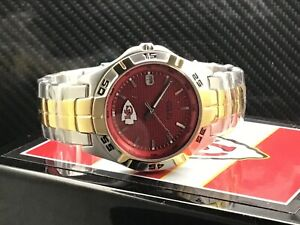 Kansas City Chiefs NFL Two-Tone Stainless Steel Watch by Fossil NEW (RARE)