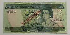 SOLOMON ISLANDS SPECIMEN 2 DOLLARS 1979 UNC