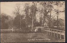 Warwickshire Postcard - Guy's Cliff, The Footpath & Bridge, Warwick   RS2865