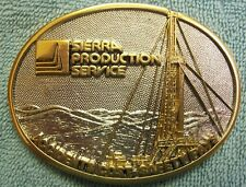AWARD DESIGN MEDALS  SIERRA PRODUCTION SERVICE ACCIDENTS COST SAFETY  PAYS GP/SP