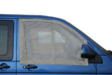 2 Quality Cab Window Mosquito Nets 4 VW T5 / T6 campe with magnets Grey C9074G