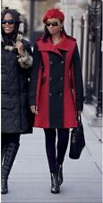 Red and Black.  Wool.  Josefina Winter Coat.  Sz. S.  Ashro.