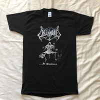 VTG Unleashed In Blooduad Rare 1991 OG Death Black Metal T-Shirt New Reprint USa