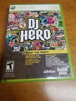 DJ Hero (Microsoft Xbox 360, 2009)(Complete)(Tested)
