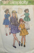 VTG 70s 80s Simplicity Sewing Pattern Child & Girls Soft Pleased Dress Age 10