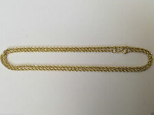 Men Women Real 10k Yellow Gold Necklace Solid Rope Diamond Cut Chain 1.5MM 14""