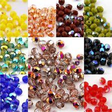 PRECIOSA Glasschliffperlen 3mm 50stk Facettiert Rund Kristall Perlen Farbauswahl