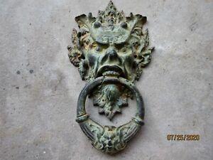 Iron Door Knocker Greenman face