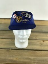 Vtg Ufcw 7 Union Jobs Denver Co Blue Trucker Hat Made In Usa