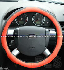 UNIVERSAL MERCEDES FAUX LEATHER LOOK RED/BLACK STEERING WHEEL COVER