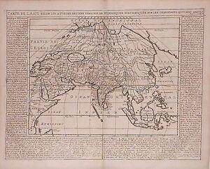 Antique map, Carte de l'Asie selon les auteurs anciens