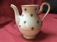 """ESCHENBACH BARONET CHINA NANETTE TEA POT Small 5"""" Gold & Green On White BAVARIA"""