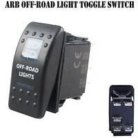 12V 20A Bar ARB Carling Rocker Toggle Switch Blue LED Car Boat OFF Road Light LF