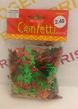 Mexican Fiesta Metallic Confetti/Table Sprinkles/Party Decoration 71g Red/Green
