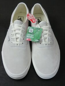 Vans Men's Authentic Pig Suede Marshmallow White shoes Water Repel Size 13 NWT