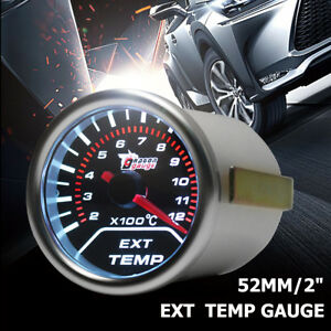 "2"" 52MM CAR LED EXHAUST GAS TEMPERATURE TEMP EGT GAUGE METER POINTER SENSOR  #"