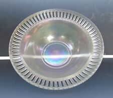 Antique US Glass/Tiffin #8076 Flared Raised Rim Stretch Glass Bowl Iridescent