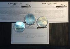 MEDAILLE PAQUEBOT - NORMANDIE 1935 / ILE de FRANCE 1927 / FRANCE 1962 - LOT.