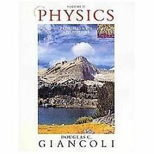Physics Principles with Applications Douglas Giancoli Volume 2 II Textbook 7th E