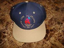 OLYMPIC GAME 1996 LOGO 7 ATLANTA  flame   SCRIPT  90'S HAT CAP VINTAGE SNAPBACK