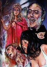 Cicatrices De Drácula/martillo Horror/gran impresión Arte Fino Rick Melton Giclee