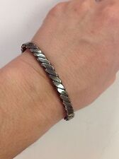 Bracelet, Made In Mexico Vintage Sterling Silver Cuff