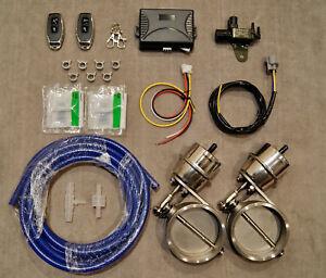 2x 76MM Exhaust WIRELESS Controller Vacuum Valve LS400 GS400 GS430 SC430 SC400