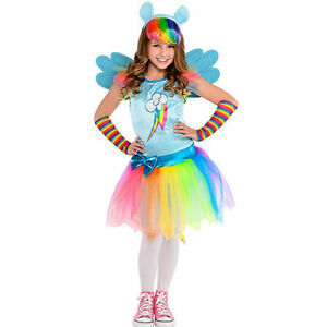 New Rainbow Dash Costume for Girls, My Little Pony Large (12-14)