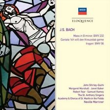 BACH Mass In B Minor/Cantata BWV 56 2CD NEW Marriner Decca Eloquence