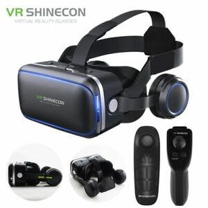3D Glasses Virtual Reality Stereo Headset 6.0 Remote Control VR Helmet For Ios A