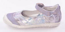 Noel Prudy Girls Lilac & Silver Leather Shoes UK 11 EU 29 US 11.5 RRP £56.00