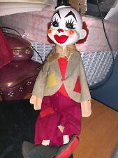 Rare Pierrot Clown Japan Acs Vintage Antique Doll Paris France Eiffel Tower