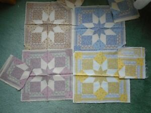 Panels, blue, yellow, pink, tan - 2 each color, total of 8 blocks