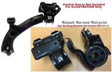 2pcSet fits Honda CRV 2007 2008 2009 2010 2011 Front Control Arm Bushing Bracket