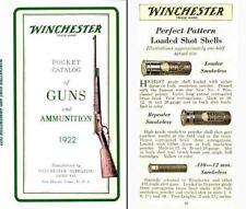 Winchester 1922 Catalog of Guns and Ammunition