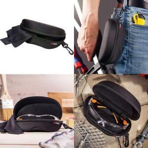 Storage Case for Safety Glasses w/Felt Lining, Reinforced Zipper and Handy Belt