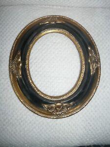 Encadrement ovale noir médaillon d: 38,5 x 33 cm