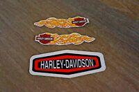 New Harley Davidson Bold Logo Window Decal Sticker Plus mini Tank Decal Set