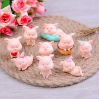 1PC Micro Landscape Pig Miniature Figurine Fairy Garden Decor A_3C