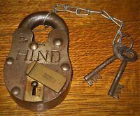 Lot of 5 Vintage Pad Locks