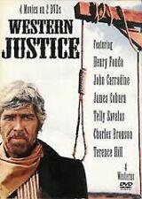 Western Justice DVD 2007 Carradine Coburn Bronson Savalas 4 Movies New
