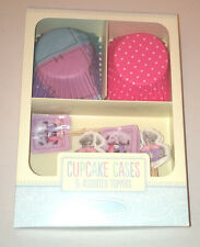 TATTY TEDDY 24 CUP CAKE CASES & 24 TOPPER PICKS SET Pastels PINK LILAC Party