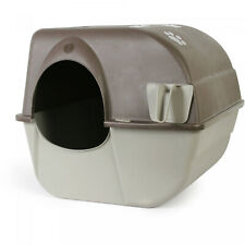 Omega Paw Flip Cleaning Cat Litter Box Large Roll'n Kitty Pewter Scoop NEW
