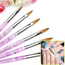Acrylic 6pcs/set Nail Art Drawing Large Manicure Brushes for Painting 3D Mold