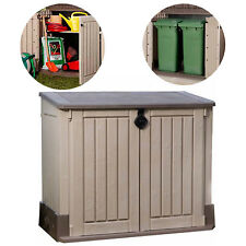 Outdoor Storage Shed Plastic Garden Cabinet All-Weather Utility Box Pool Lawn