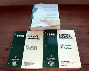 1998 Camaro Firebird Platform F Books 1 2 & 3 Chevy GMC Shop Service Manual