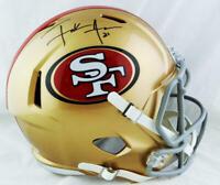 Frank Gore Autographed San Francisco 49ers F/S Speed Helmet - JSA W Auth *Black