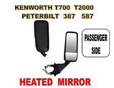 Peterbilt 387, 587 & Kenworth T2000, T700 Black Mirror (HEATED) Passenger Side