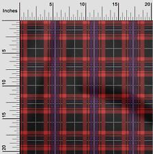 oneOone Polyester Micro Mesh Fabric Tartan Check Print Fabric By-0lZ